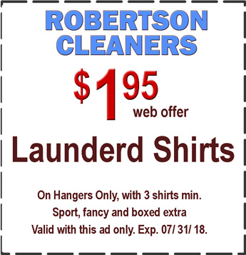 dry cleaning coupons